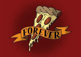 Pizza para sempre banner vetor