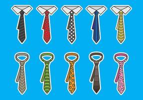Ícones vetoriais de cravat vetor