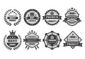 Vetores de crachá Premium personalizados