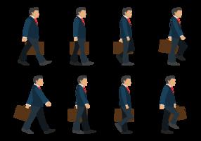 Ciclo de caminhada do homem de negócios vetor