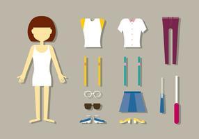 Vetores de boneca de moda feminina