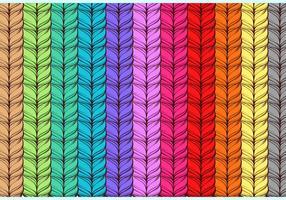 Vetor livre de caxemira do arco-íris
