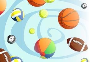 Vetor de bola desportiva