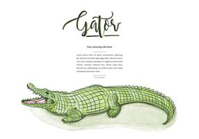 Fundo gratuito do Gator vetor