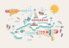 Songkran Festival Tailândia Vector