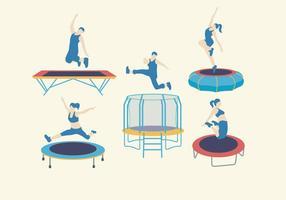 Vetor de equipamento de trampolim