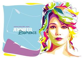 Jennifer Lawrence - em Popart Portrait vetor