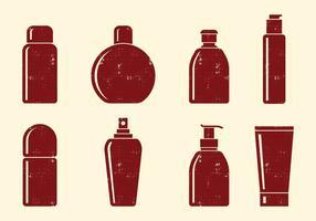 Ícones de garrafas de cosméticos