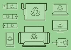 Ícone do escritório de reciclagem vetor