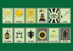 Conjunto De Cartão De Tarô vetor