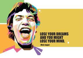 Mick Jagger em Popart Portrait vetor