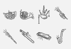 Ícone do instrumento desenhado à mão vetor