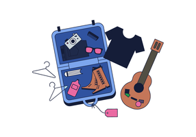 Vector de bagagem gratuito