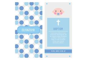 Invitación bautizo (niño) vetor