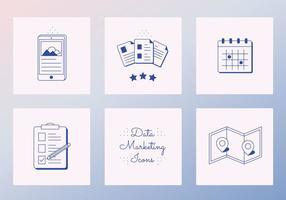 Ícones de dados vetoriais
