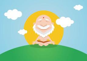 Meditação Calm Yoga Guru vetor