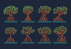 Pacote de vetores de manguezais