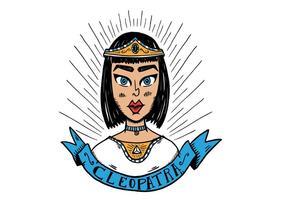 Vetor de caracteres Cleopatra grátis