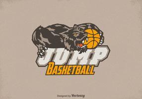 Vetor livre do logotipo do basqueteball do texugo de mel