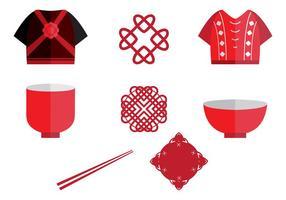 Elemento do ícone do casamento chinês vetor