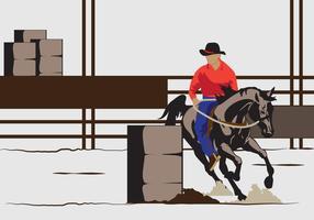 Ilustração Barrel Racing vetor