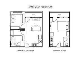 Plano do apartamento vetor
