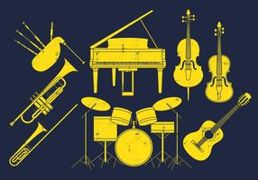 Instrumentos musicais vetor