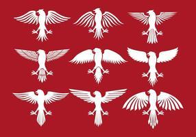 Ícones poloneses da águia vetor