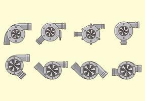 Conjunto de vetores de turbocompressor