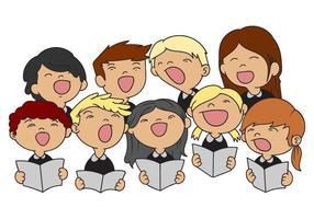 Vector de ilustração do coro de crianças grátis