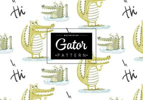 Padrão Gator grátis vetor