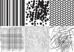 Texturas em preto e branco vetor