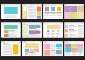Ícones do portal da Web vetor
