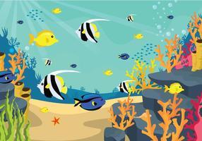Ilustração gratuita do fundo do mar