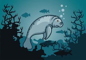 Vetor do peixe-boi