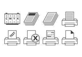 Vector de Ícone de Impressora Grátis
