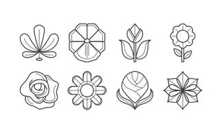 Vetor de ícone de flor grátis