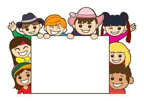 Vector de modelo de cartão de dia de crianças grátis