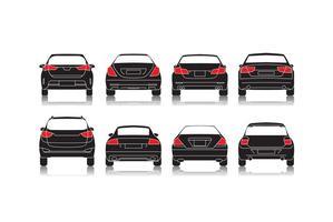 Vector de ícone de vista traseira de carro grátis