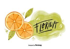 Flórida Orange County Watercolor Vector