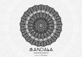 Mandala desenhada mão livre do vetor
