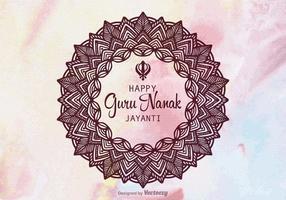Design de vetor Guru Nanak Jayanti gratuito