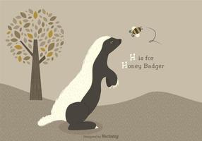 Ilustração de vetor de texugo de mel livre