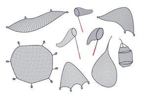 Vetor de rede de peixe grátis