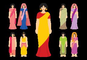 Vetor feminino indiano