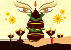 Ilustração vetorial de Kalash vetor