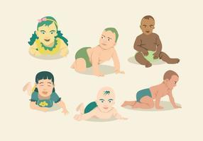 Vetor dos desenhos animados do bebê