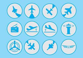 Ícone de aviação vetor