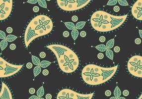 Ornamento de cachemira padrão sem costura vetor