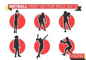 Pacote vetorial netball grátis vol. 3 vetor